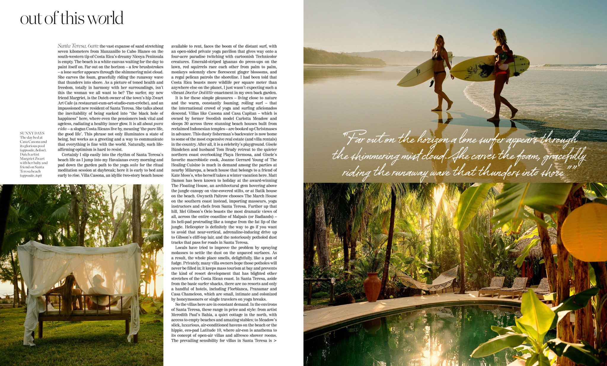 Porter Magazine Feature Avenue - Casa Cancosa Santa Teresa Beach
