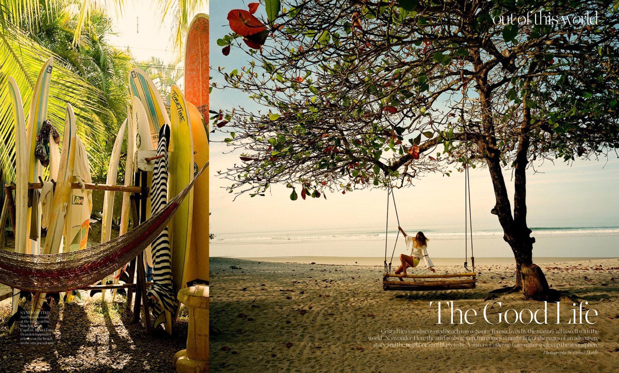 Porter Magazine OOTW Costa Rica Santa Teresa Beach Town Avenue Feature Page 1