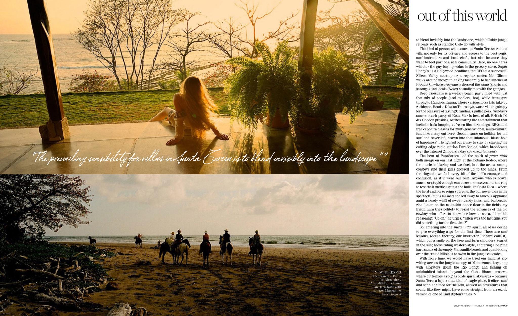 Porter Magazine Feature-Avenue-Santa-Teresa-Beach-with-images