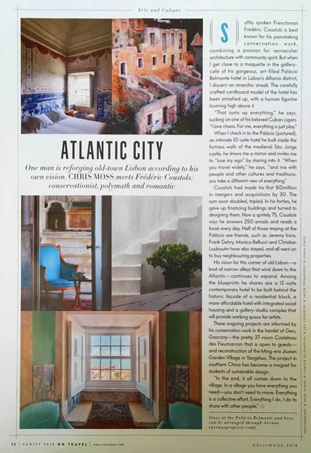 Feature on Avenue with text copy and images